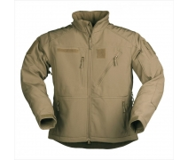 SOFTSHELL JACKET MIL-TEC COYOTE (MONT)
